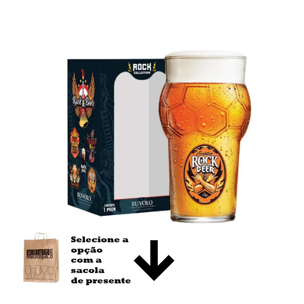 Copo de Cerveja Frases Rock Coll. Punho Futebol 580ml