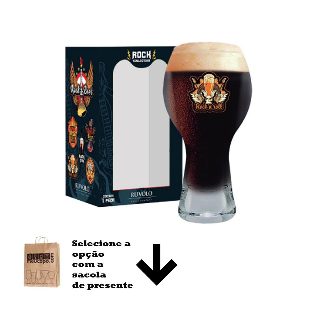 Copo de Cerveja Frases Rock Coll. Rock Roll Black 380ml