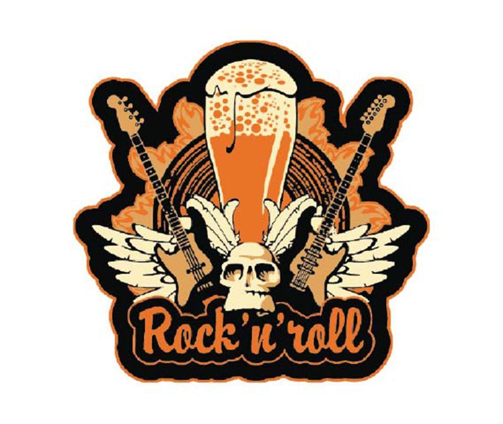 Copo de Cerveja Frases Rock Coll Rock Roll Futebol 580ml