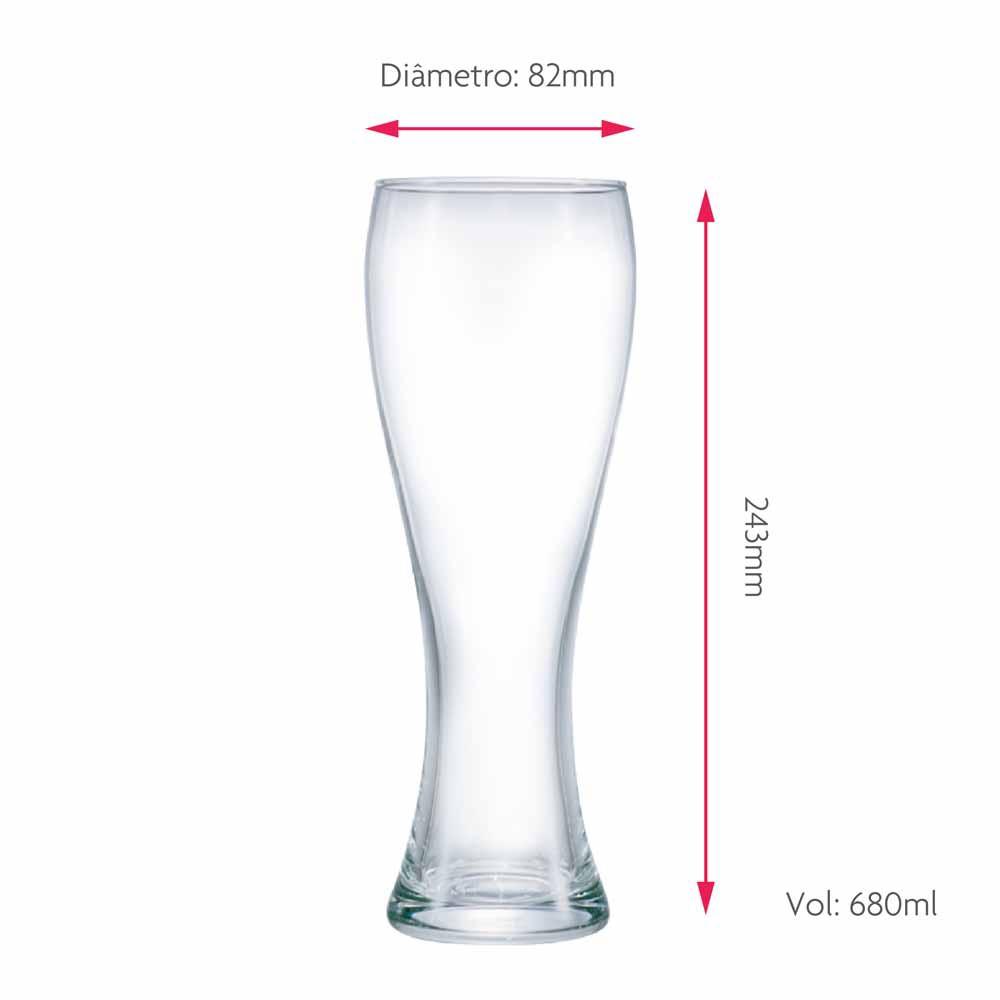 Copo de Cerveja Pantheon G Vidro 680ml