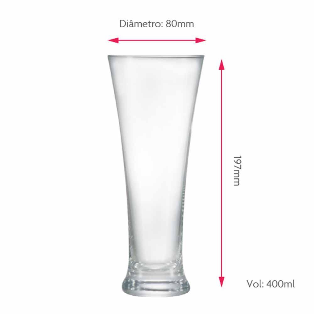 Copo de Cerveja de Cristal Pilsner 400ml