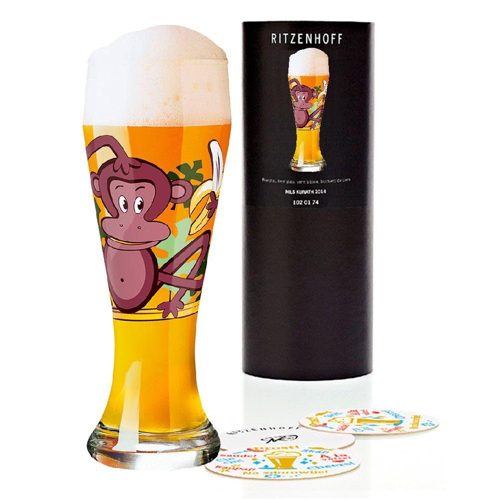 Copo Cerveja Vidro Ritzenhoff Wheatbeer Glass Formfindung 2009 500ml