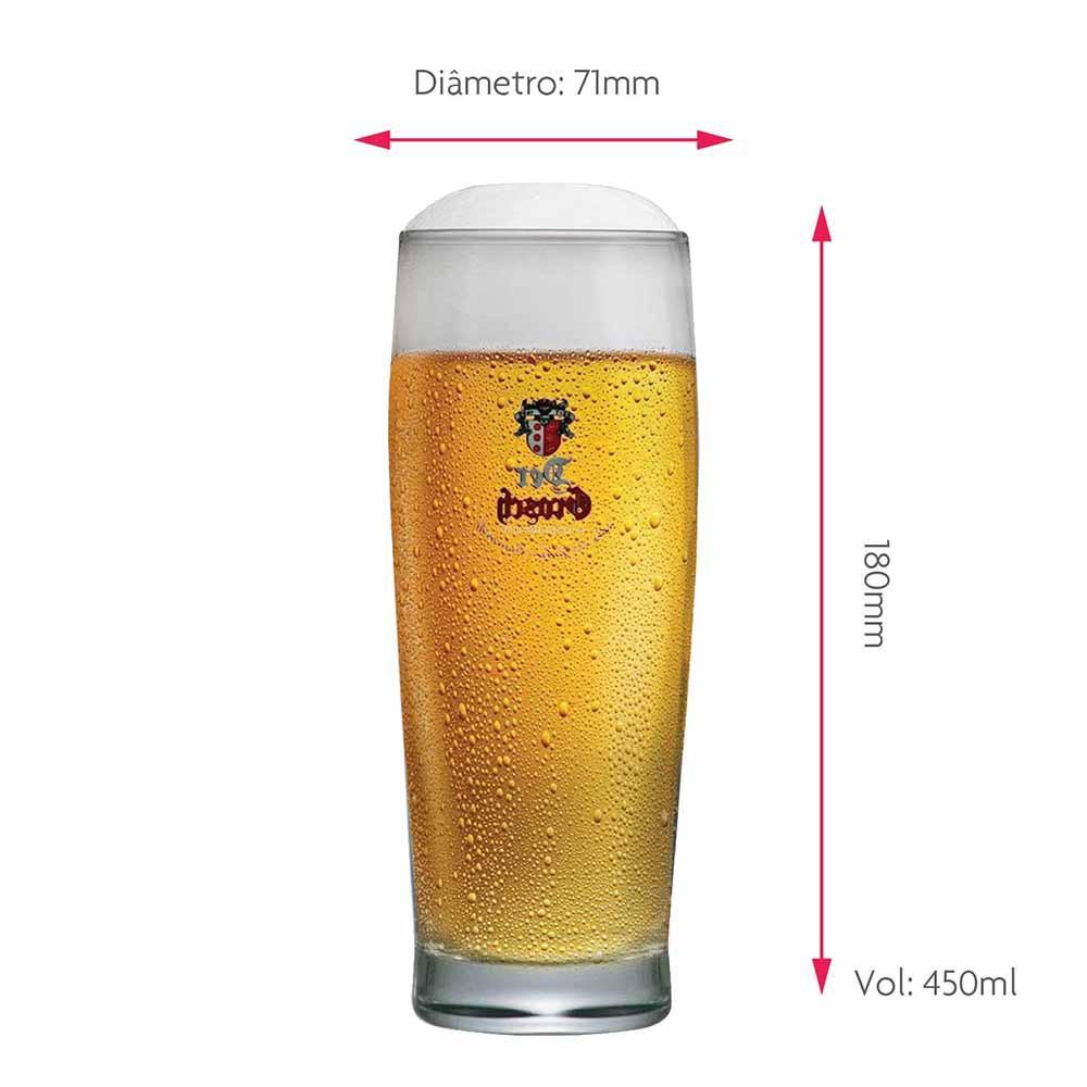 Copo de Cerveja Rótulo Frases Der Grosch 0,4 Vidro 450ml