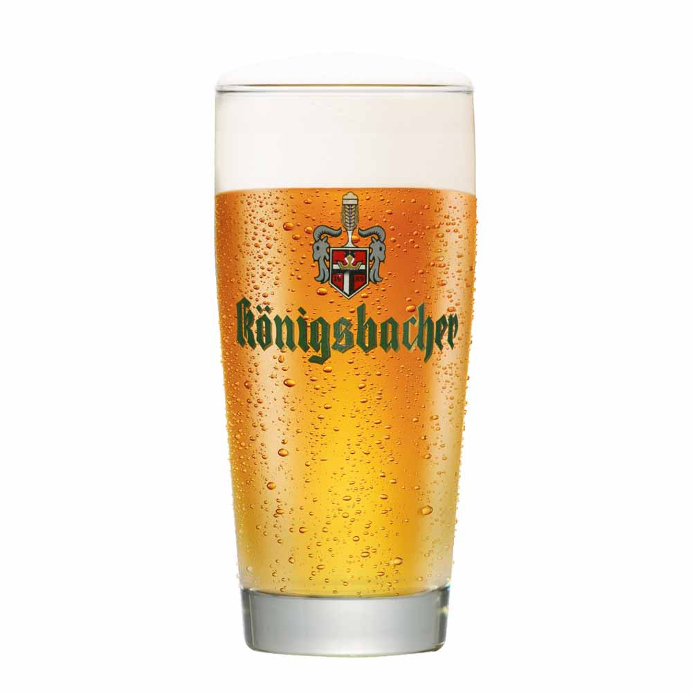 Copo De Cerveja Rótulo Frases Konigsbacher 0,20 Cinza Vidro 280ml