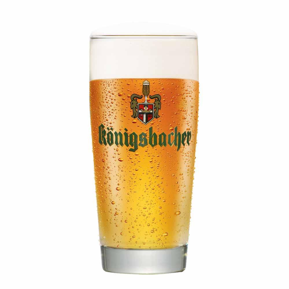 Copo de Cerveja Rótulo Frases Konigsbacher 0,25 Vidro 335ml