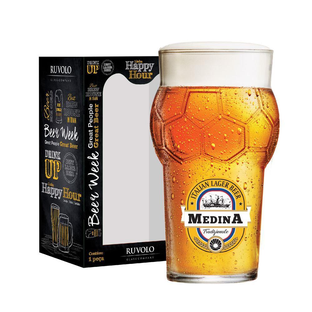 Copo de Cerveja Rótulo Frases Medina Futebol 580ml