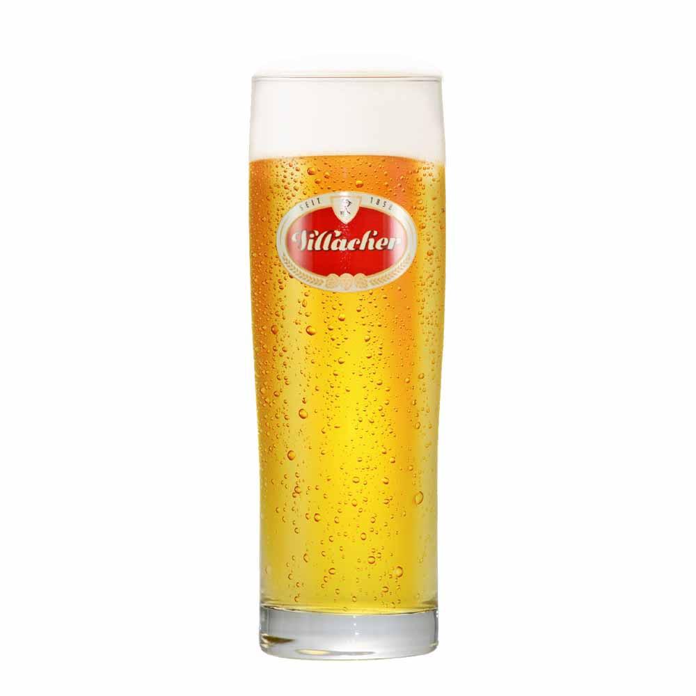 Copo de Cerveja Rótulo Frases Villacher Vidro 600ml