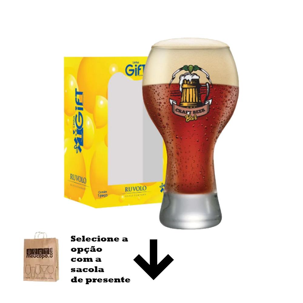 Copo de Cerveja Rótulos com Frases Craft Bar Black M 670ml