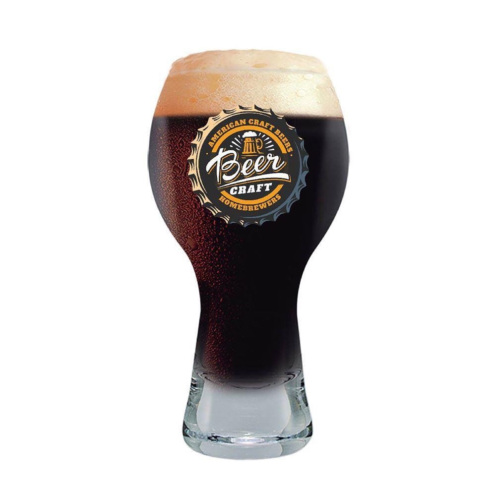 Copo de Cerveja Rótulos Frases Beer Coll. Craft Black 380ml