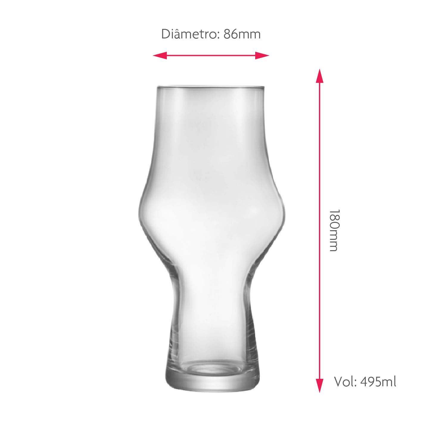 Copo de Cerveja Therezopolis Jade Cristal 495ml