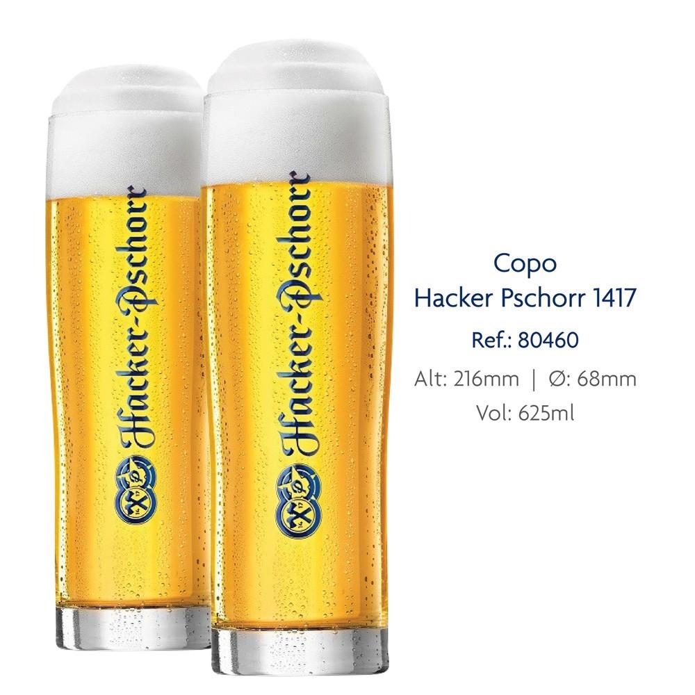 Jogo de Copos de Cerveja Vidro Hacker Pschorr 625ml 6 Pcs