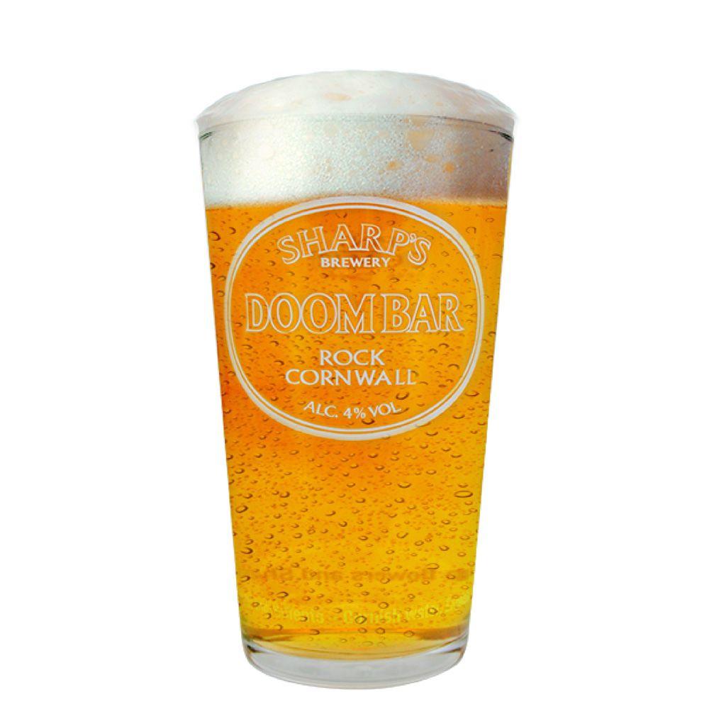 Copo de Cerveja Vidro Sharps Doom Bar Rock Cornwall 590ml QE Ruvolo