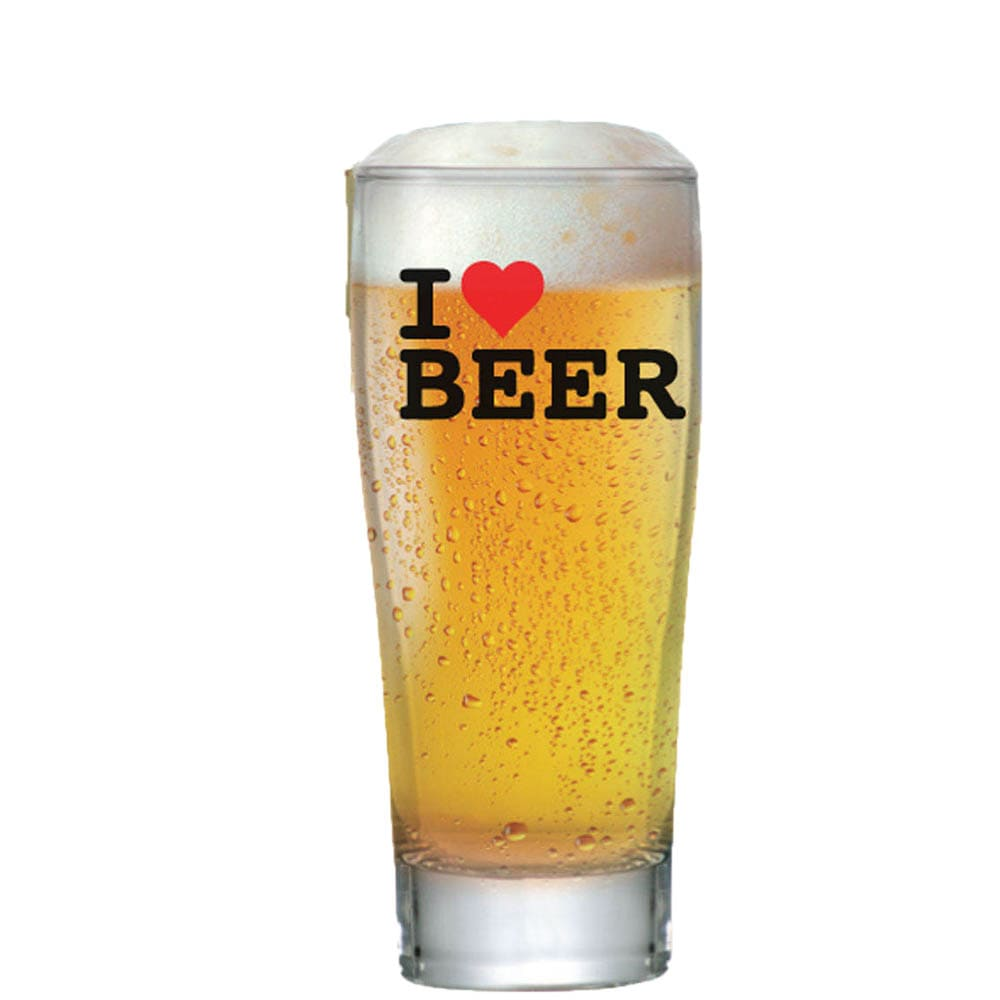 Copo Cerveja Vidro Weiss Prime 200 ml I Love Beer