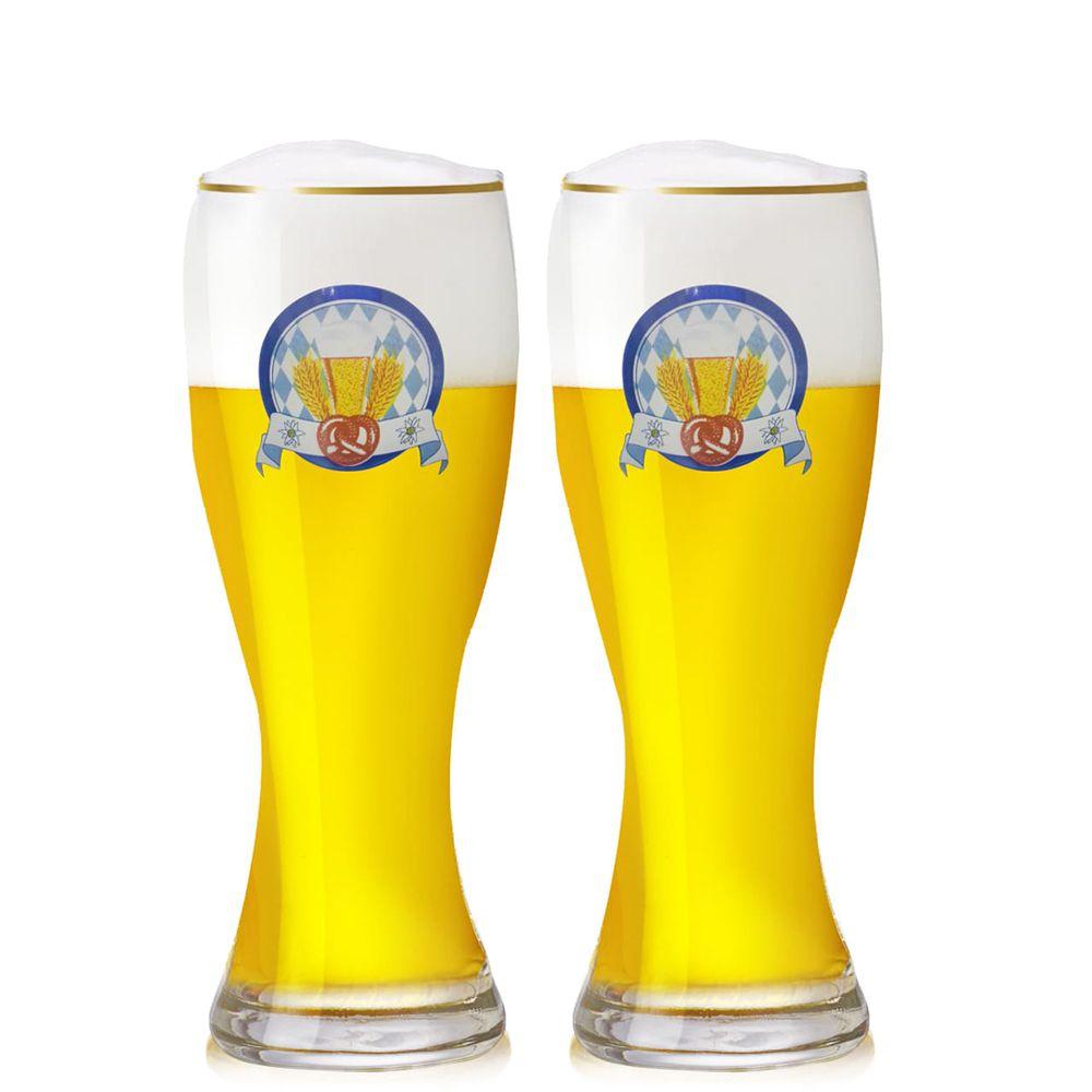 Copo de Cerveja Weiss Bavaro 500ml Vidro 2 pcs