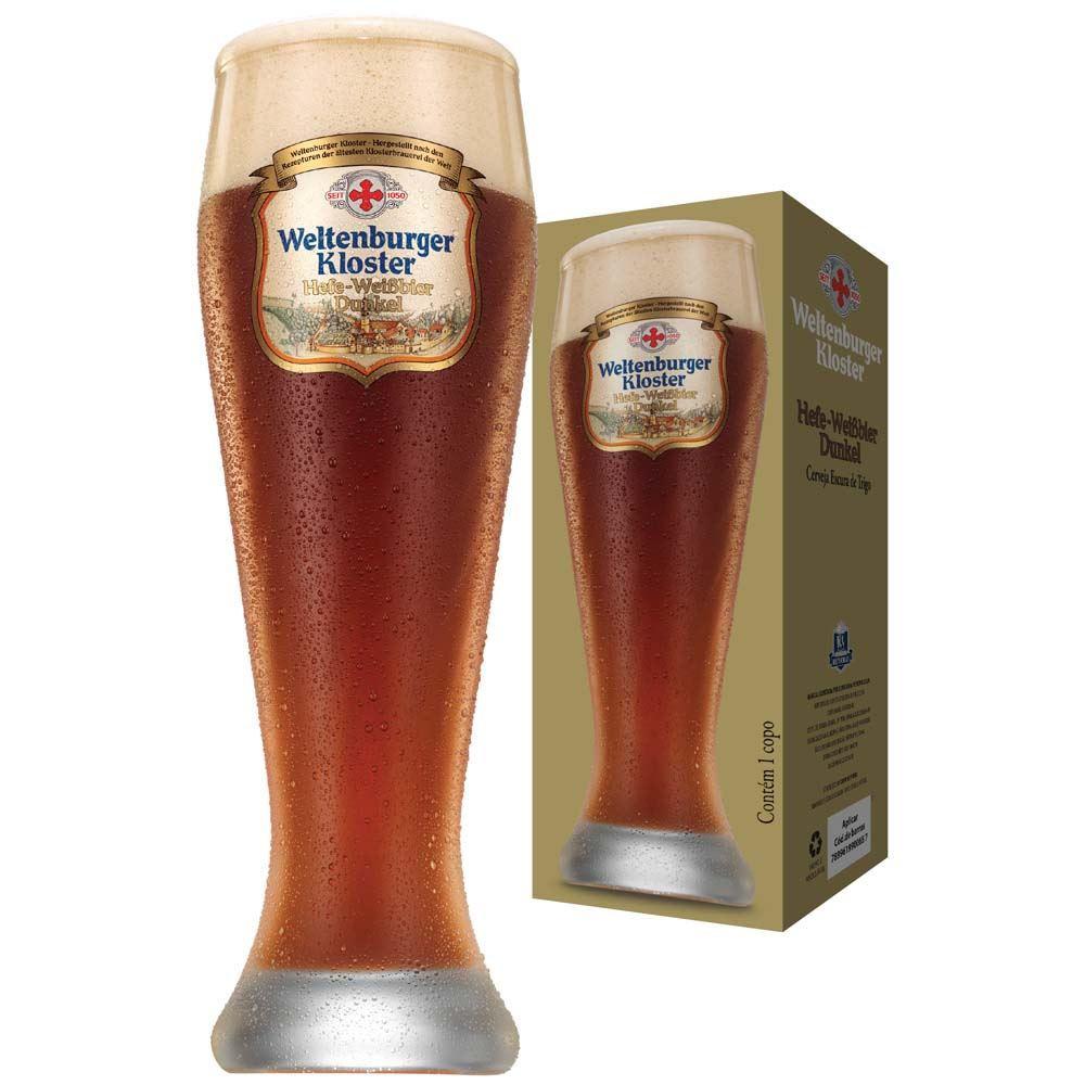 Copo de Cerveja Weltenburger Hefeweissbier Dunkel Cristal 665ml