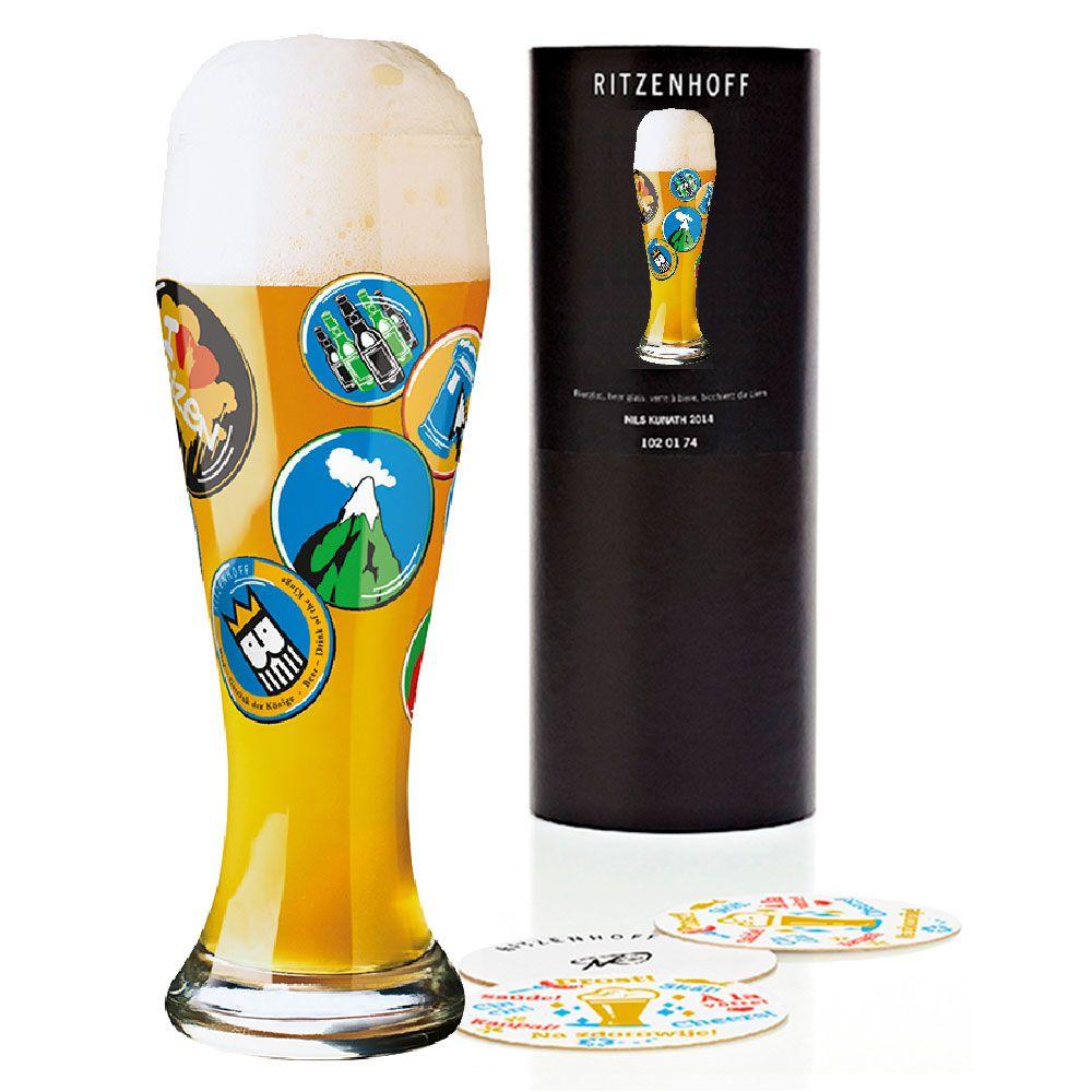 Copo Cerveja Vidro Ritzenhoff Wheatbeer Glass Büro F. Form 2010 500ml