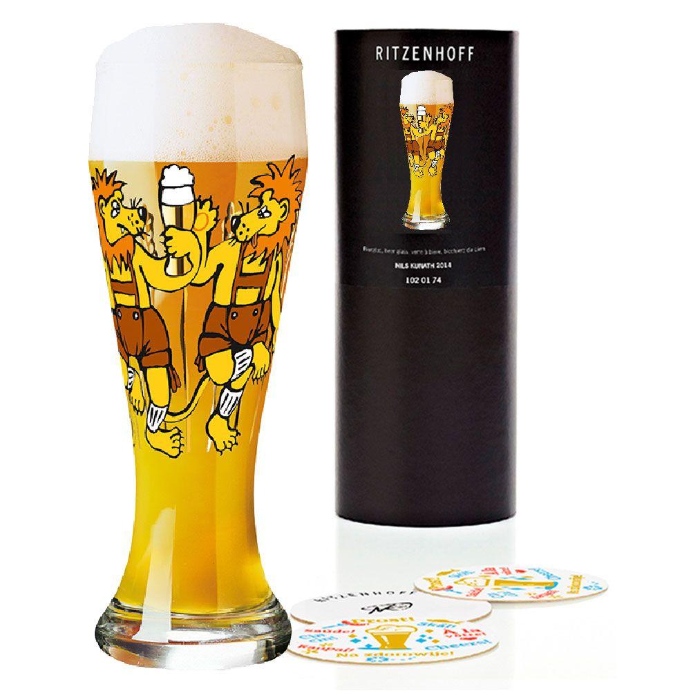 Copo Cerveja Vidro Ritzenhoff Wheatbeer Glass Martina Schlenke 2009 500ml