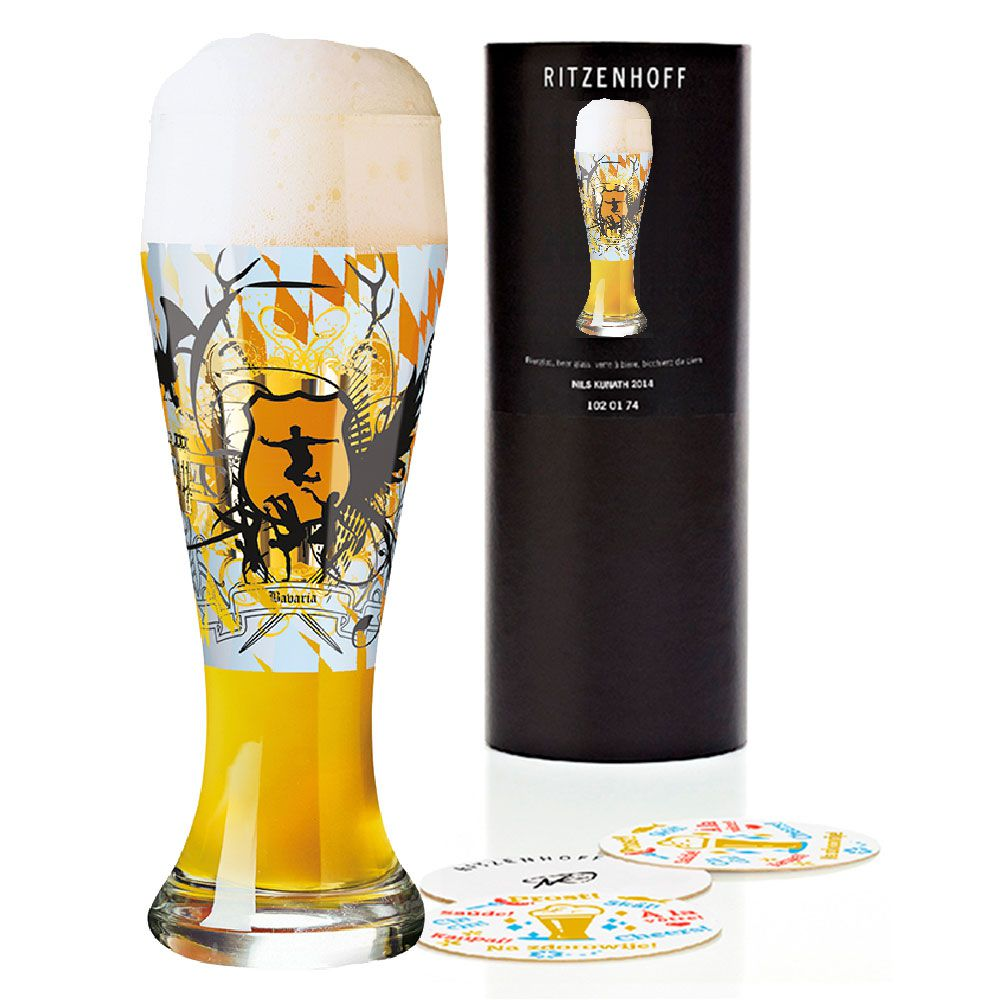 Copo Cerveja Ritzenhoff Wheatbeer Glass  Ruth Berktold 2010 500ml