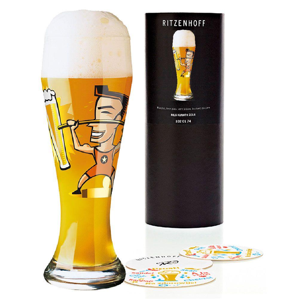 Copo de Cerveja Vidro Ritzenhoff Wheatbeer Glass Siegmar Münk 2008 500ml