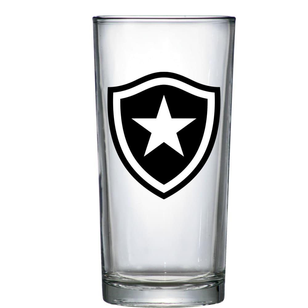 Copo de Vidro Long Drink Botafogo de 300ml