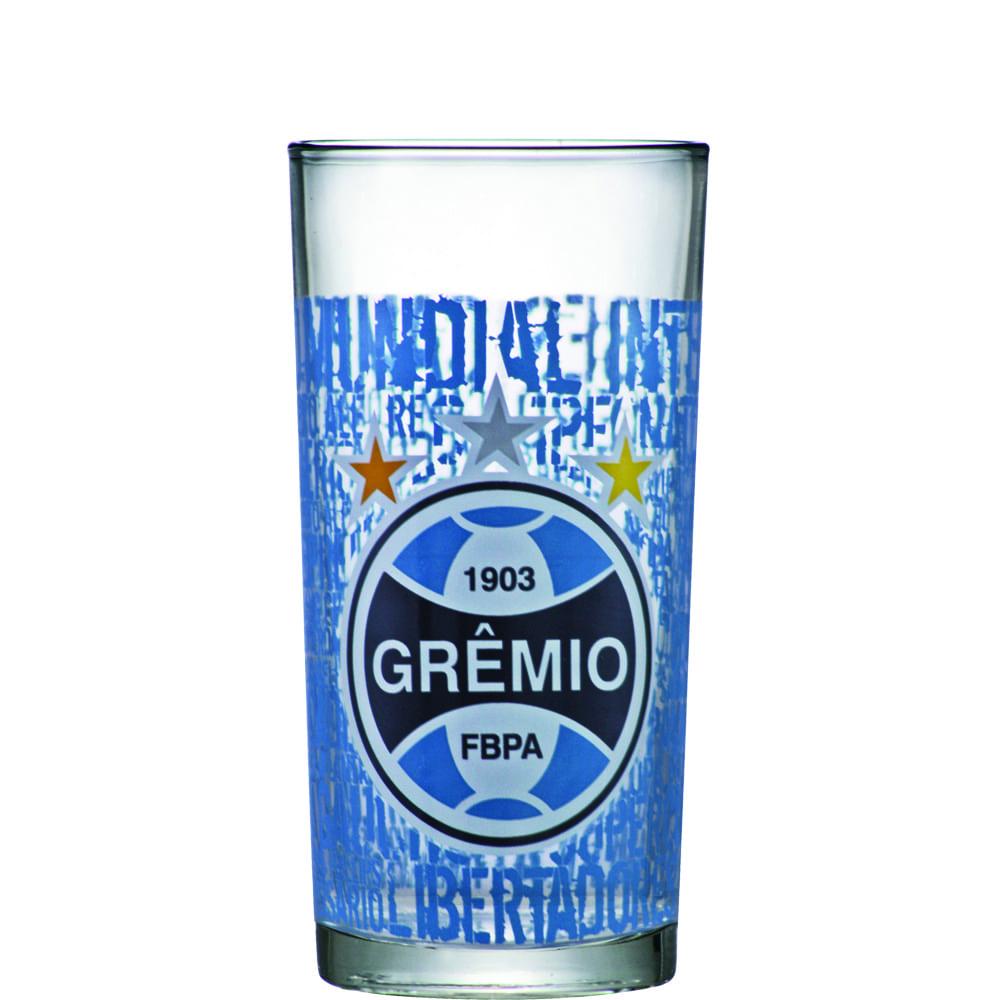 Copo de Vidro Long Drink Gremio de 300ml