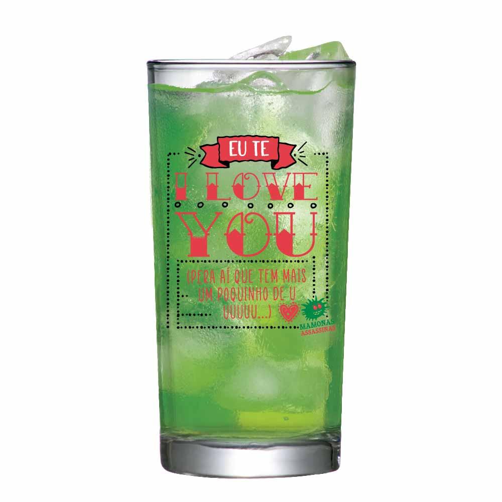 Copo de Vidro Long Drink Mamonas Assassinas ILY 255ml