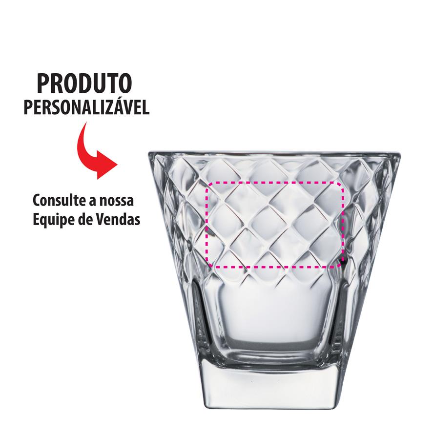 Copo de Whisky Vidro Campiello 345ml 6 Pcs