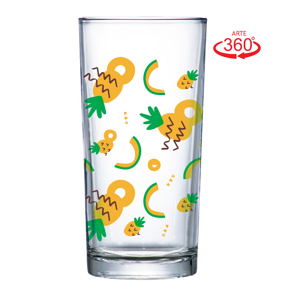 Copo Long Drink Multiuso Abacaxi 260ml