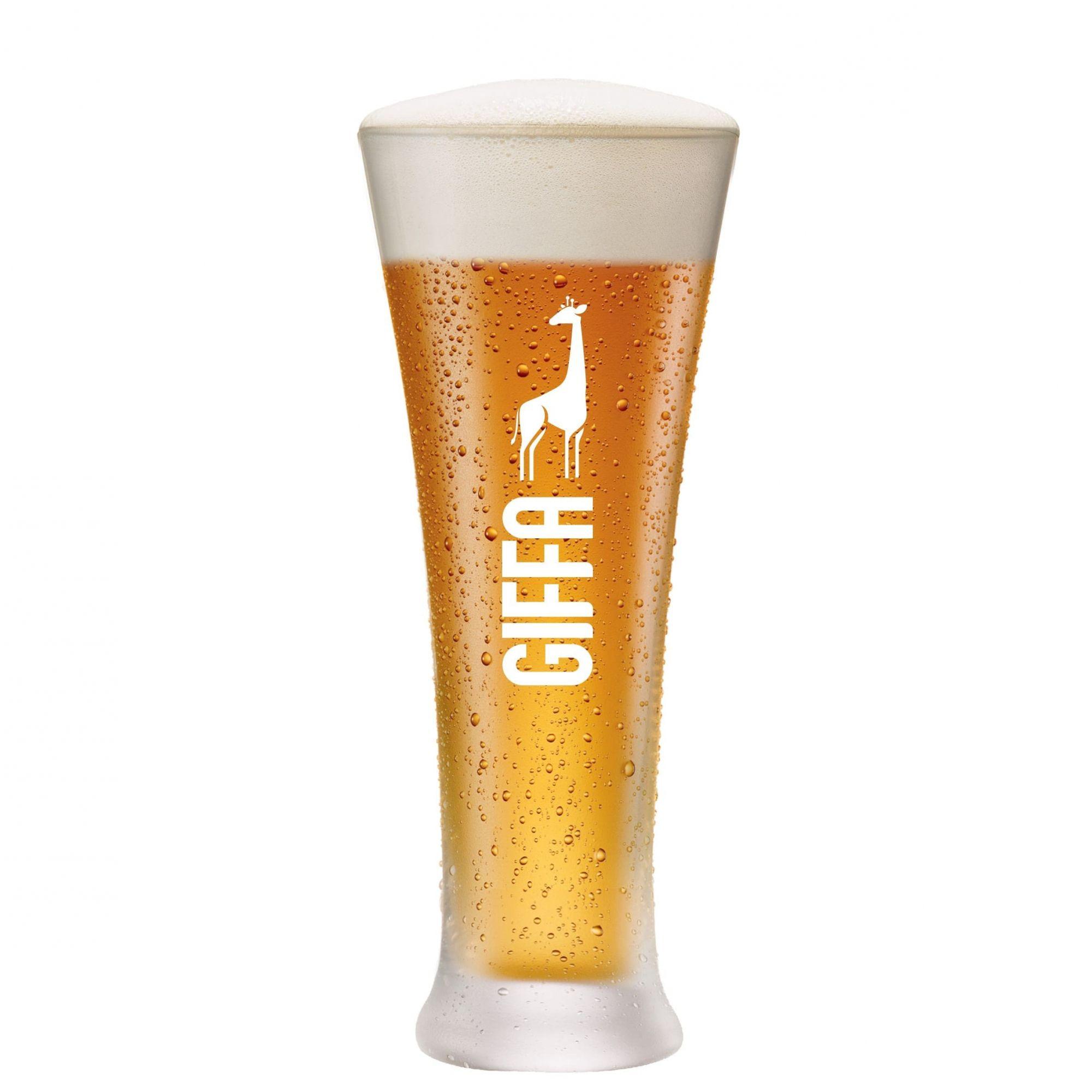 Copo de Cerveja de Vidro Pilsner GIFFA 400ml