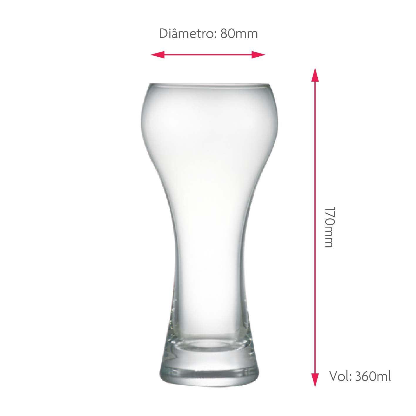 Copo de Cerveja de Cristal Weiss Premium M 360ml