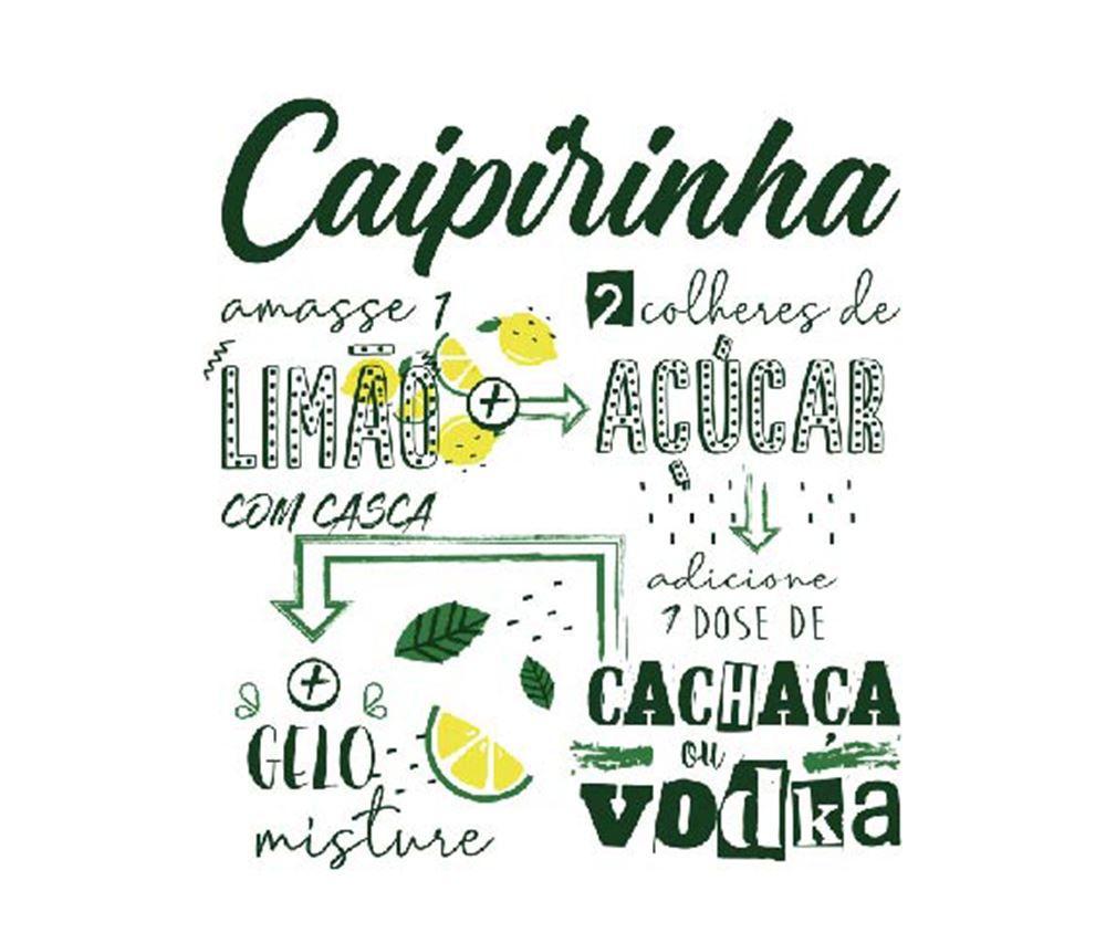 Copos de Caipirinha Legais Coleção 4 Pcs Conico 270ml