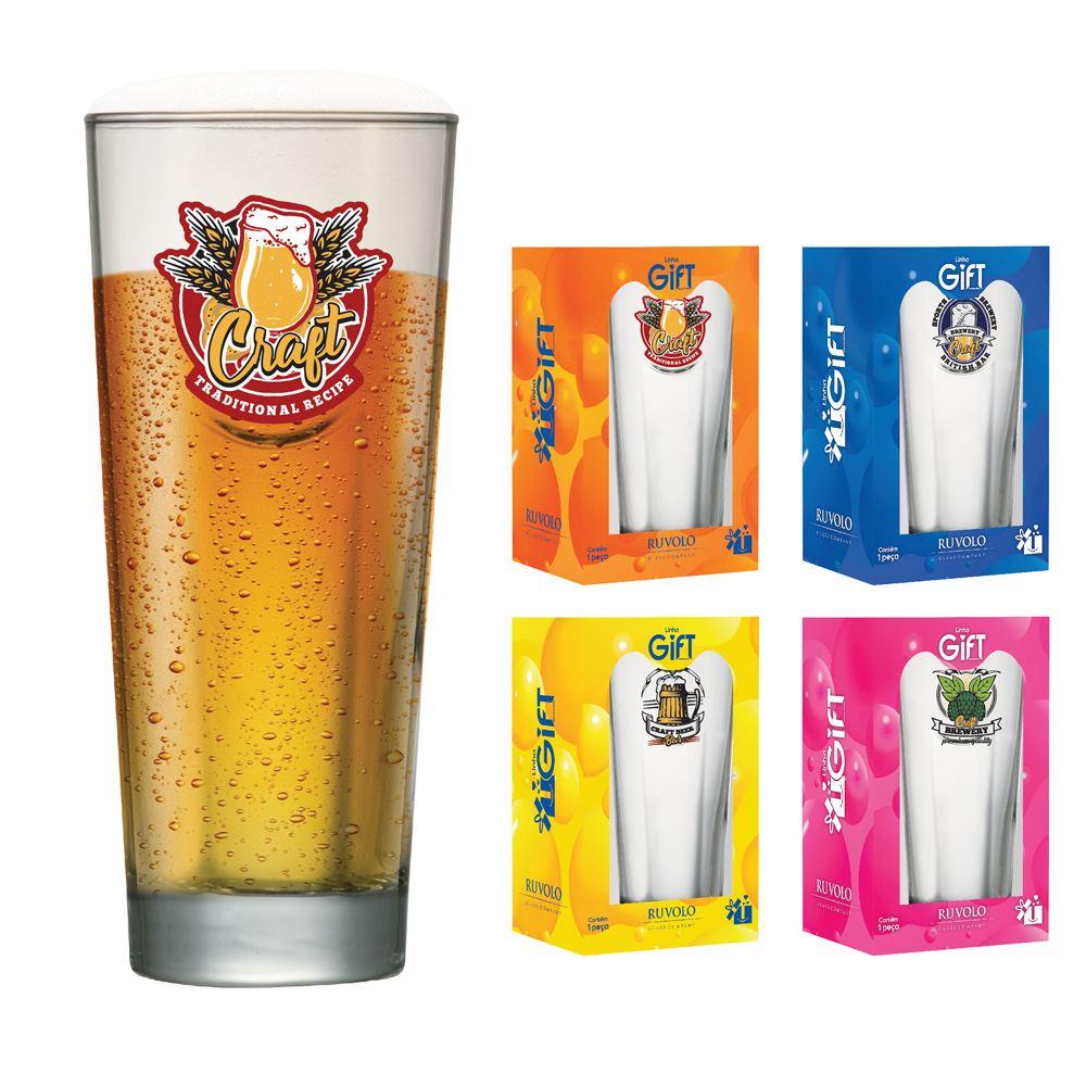 Copos de Cerveja Rótulos com Frases Coleção 4 Pcs Event M 660ml