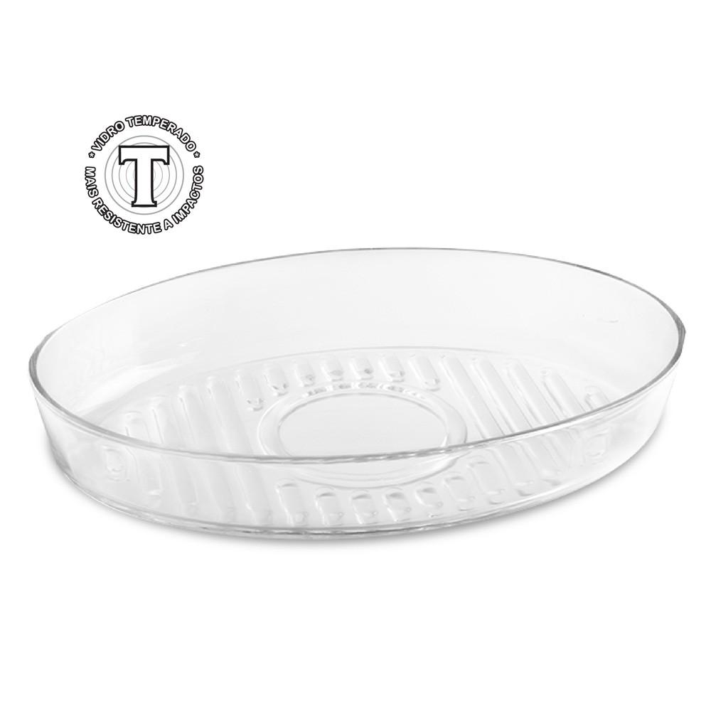Forma Assadeira Redonda / Oval Bolo de Vidro Temperada 3 L