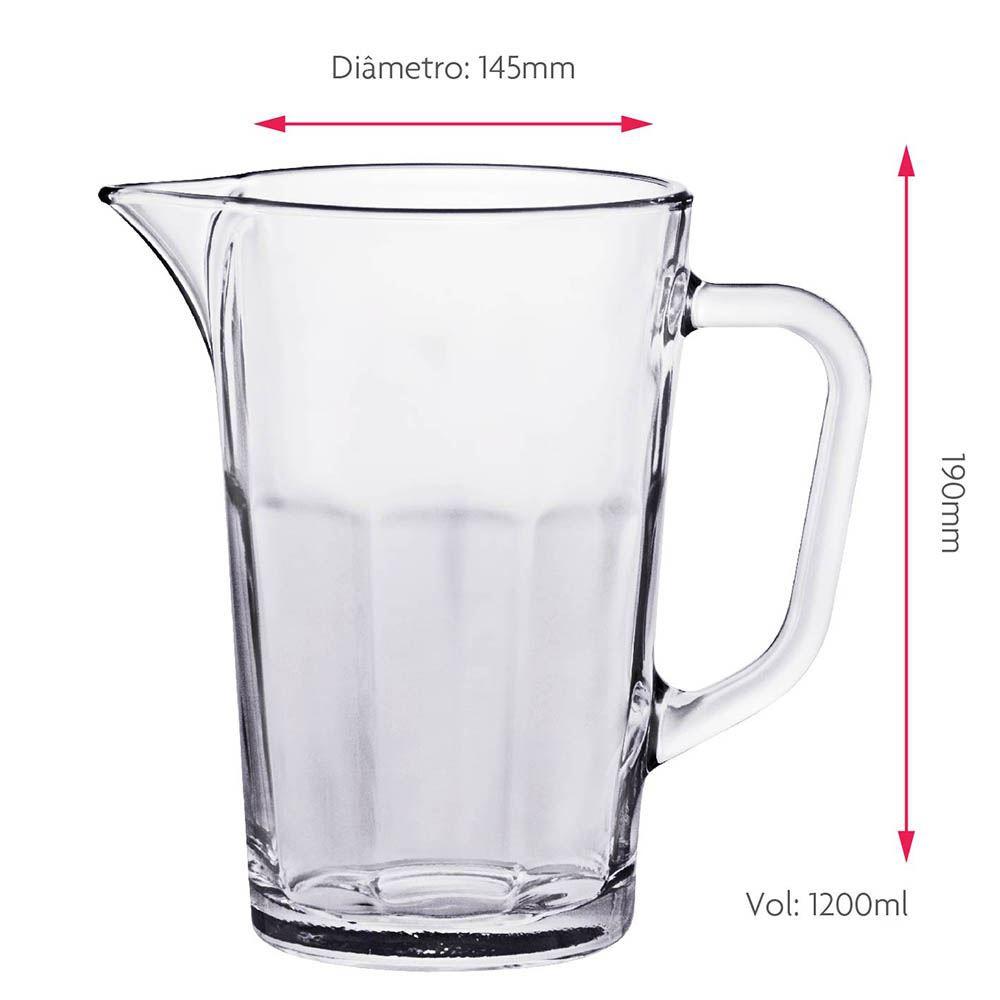 Jarra de Vidro para Água ou Suco Ruvolo Maxim 1.2 Litros