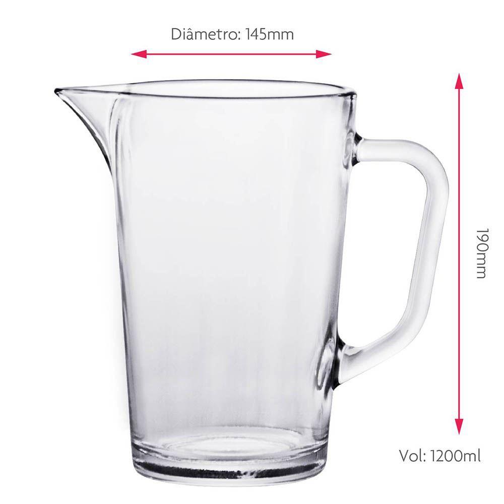 Jarra de Vidro para Água ou Suco Ruvolo Mix 1.2 Litros