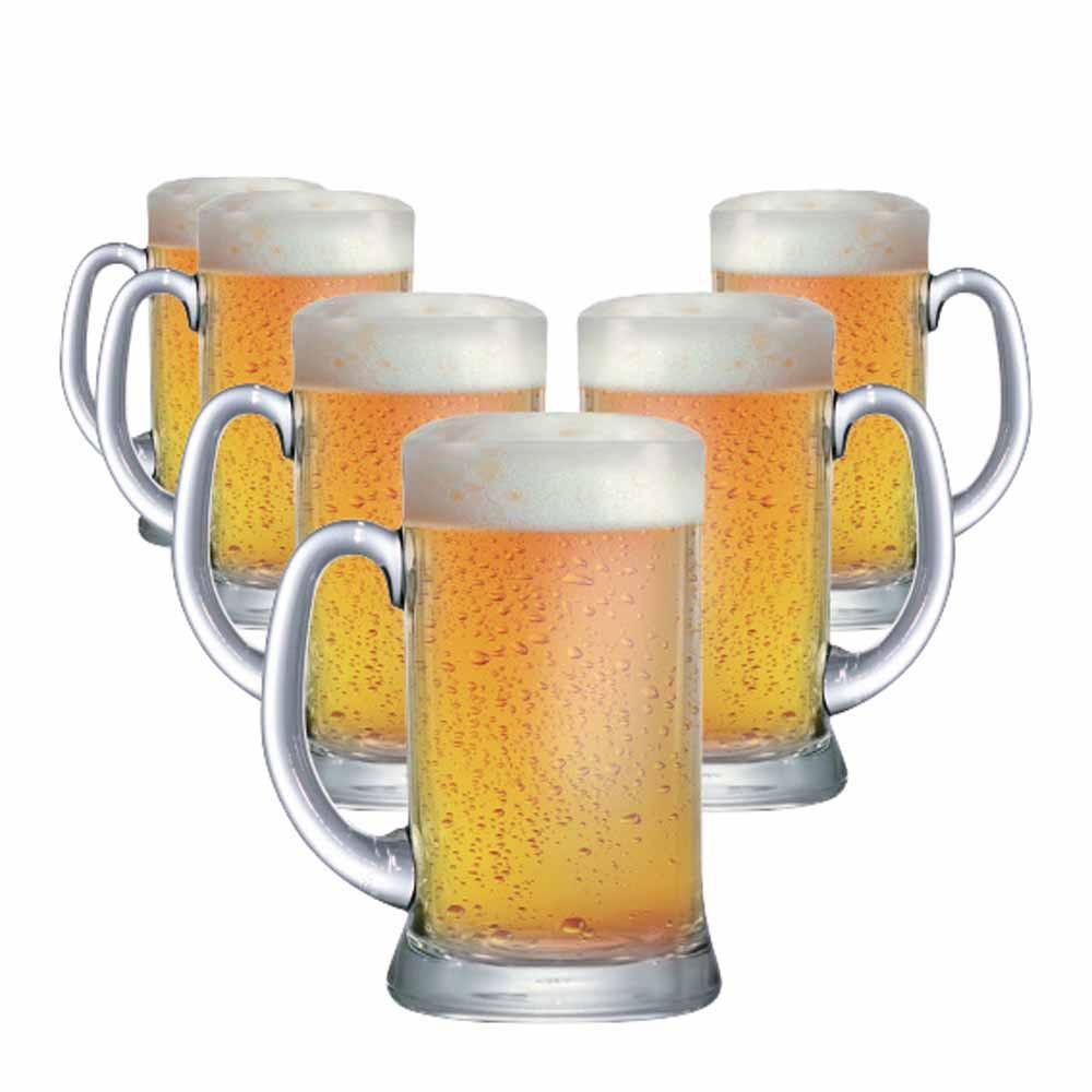 Caneca de Chopp de Vidro Cerveja Bavaria G 1160ml 6 Pcs