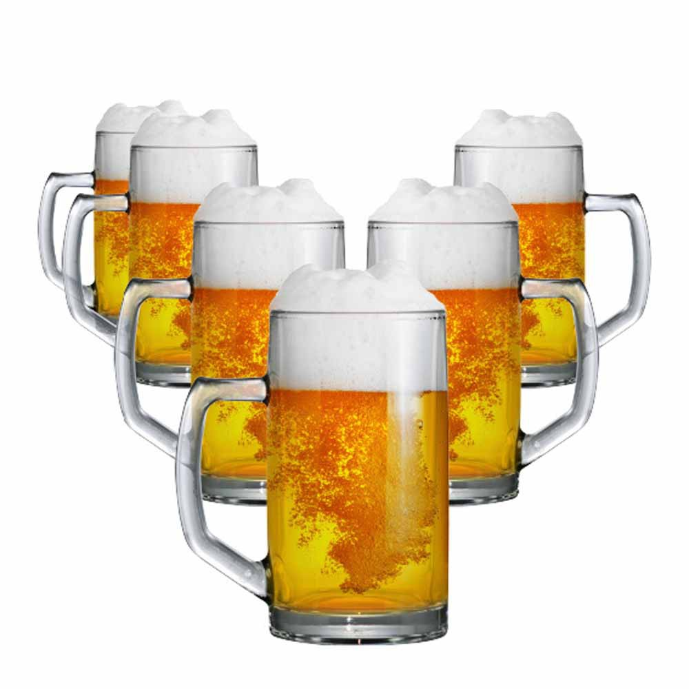 Caneca de Chopp de Vidro Cerveja Brema G 500ml 6 Pcs