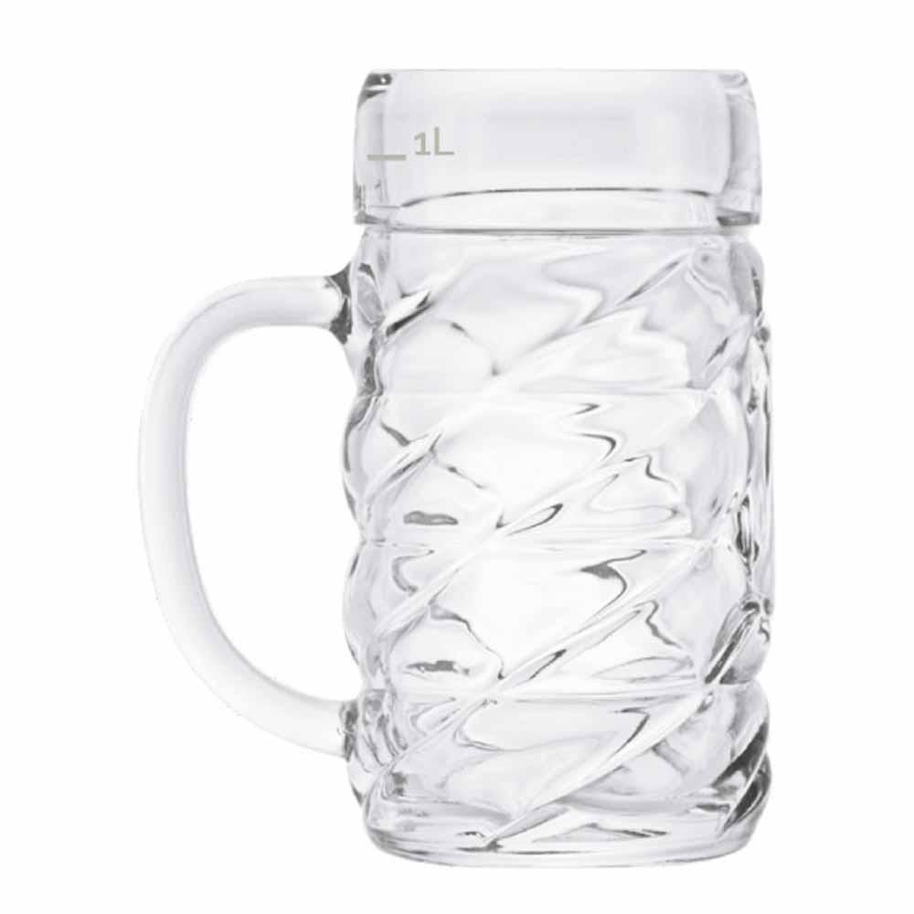 Caneca de Chopp de Vidro Cerveja Diamond G 1190ml 6 Pcs