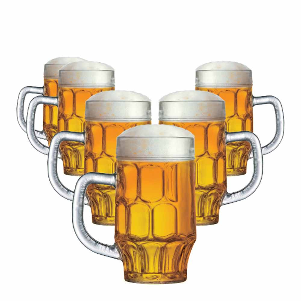 Caneca de Chopp de Vidro Cerveja Maltz 500ml 6 Pcs