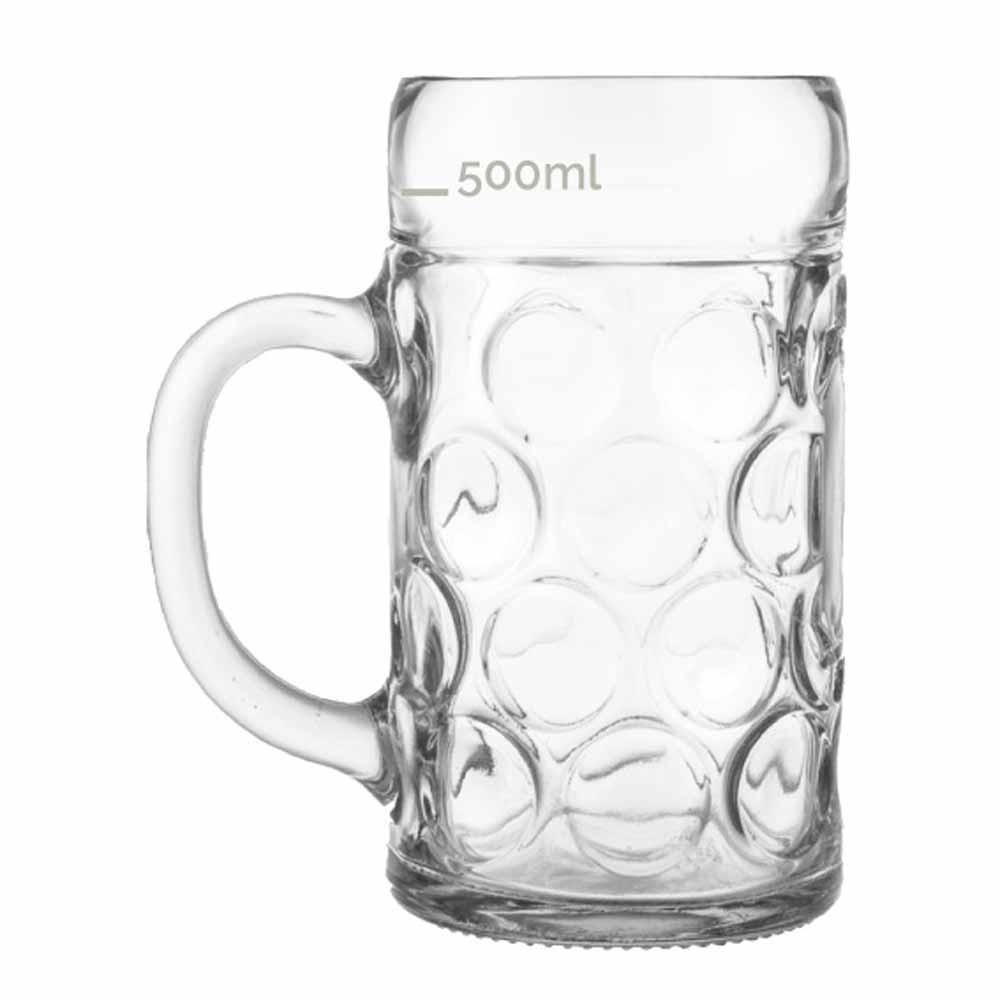 Caneca de Chopp de Vidro Cerveja Mass Krug M 610ml 6 Pcs