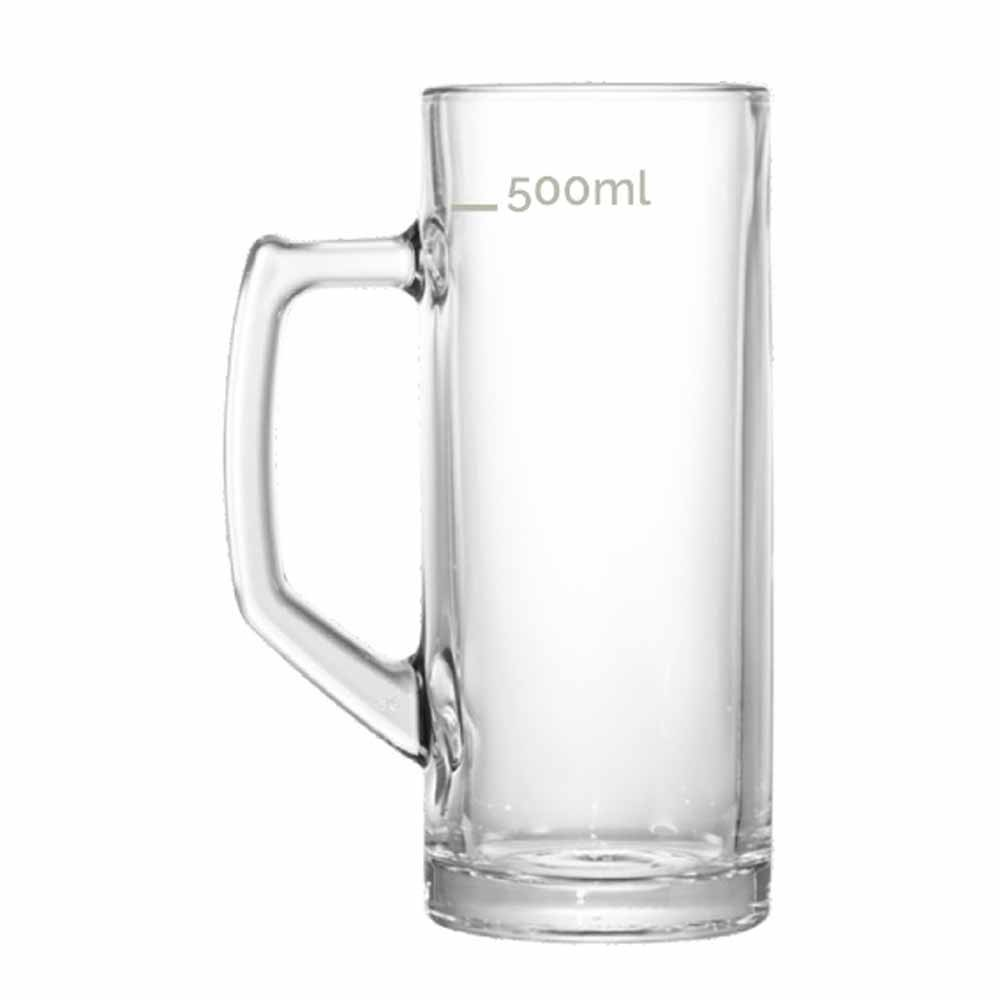 Caneca de Chopp de Vidro Cerveja Reno G 650ml 6 Pcs
