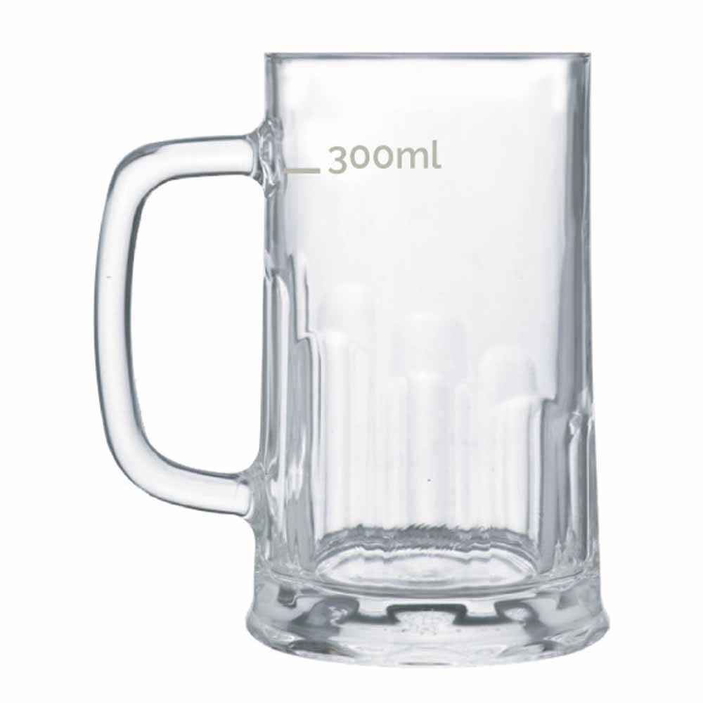 Caneca de Chopp de Vidro Cerveja Tudor P 415ml 6 Pcs