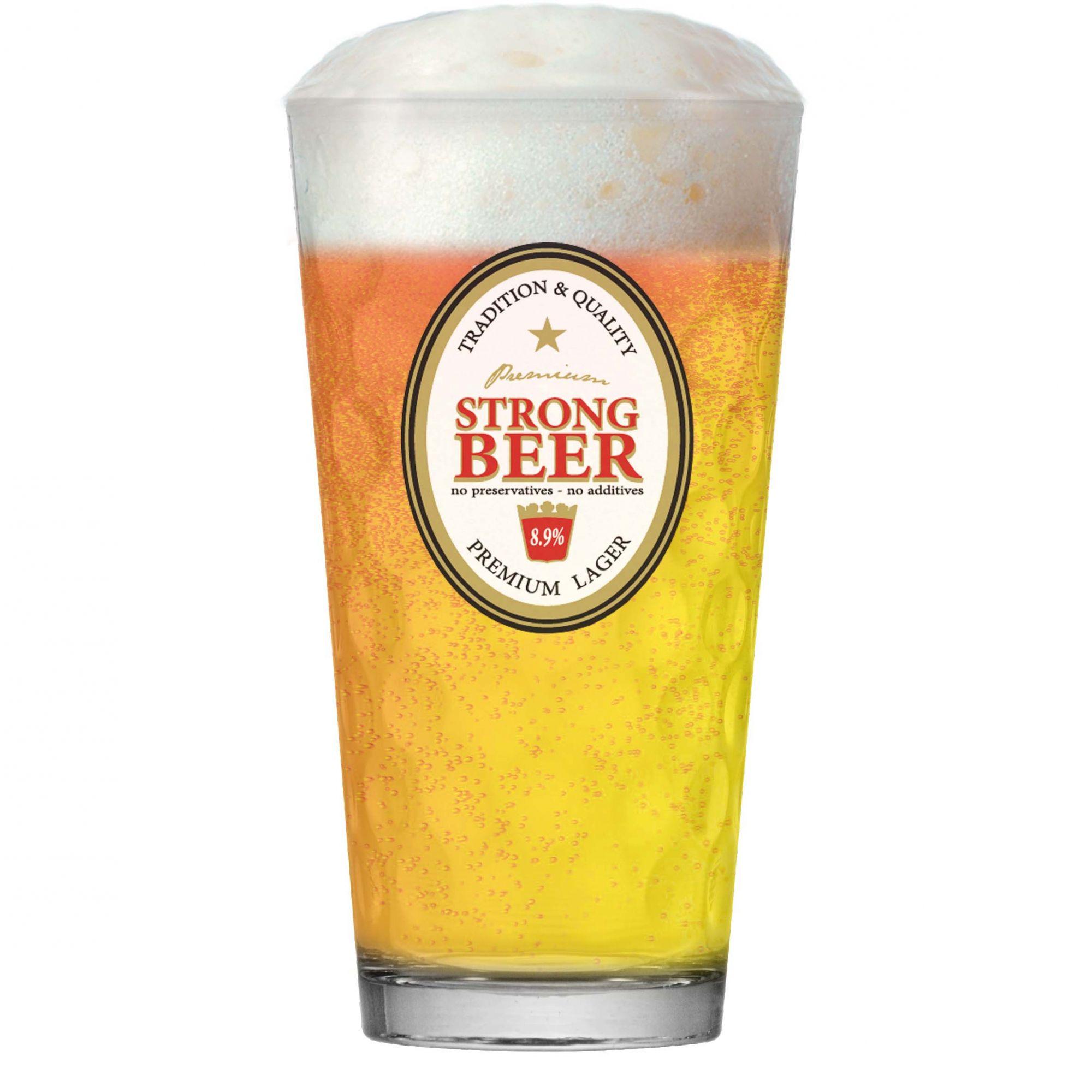 Jogo Conjunto de Copos Cerveja Chopp Vidro 415ml