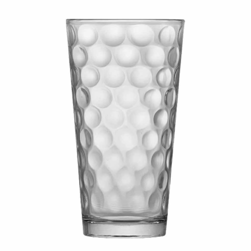Jogo Copos Água Suco Conic Bubbles Vidro 415ml 6 Pcs