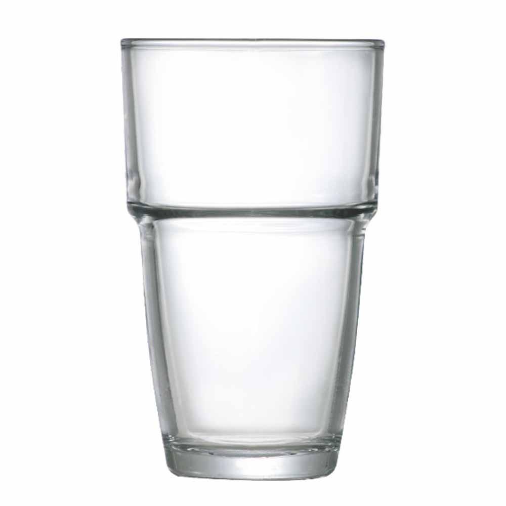 Jogo Copos Água Suco Conic Empilhavel Vidro 360ml 12 Pcs