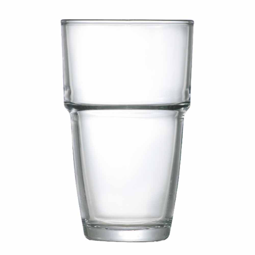 Jogo Copos Água Suco Conic Empilhavel Vidro 360ml 6 Pcs