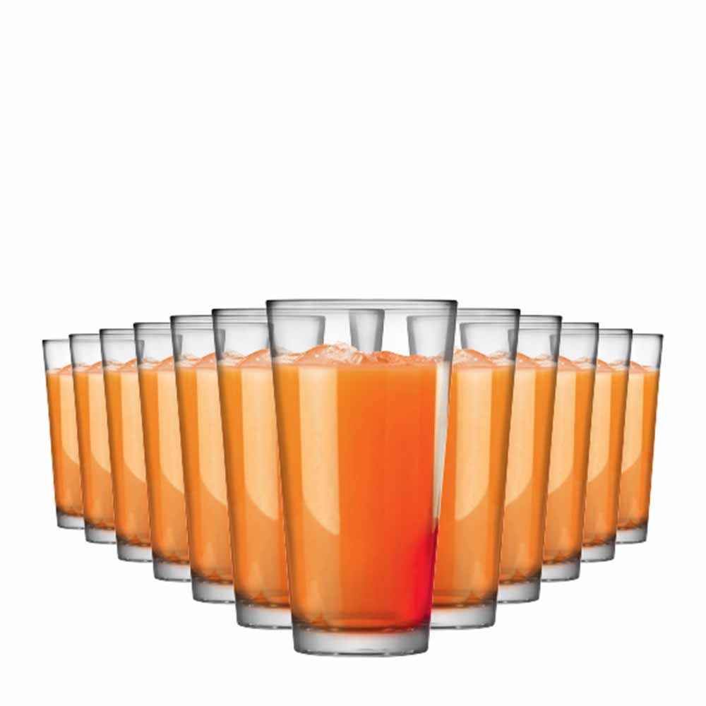 Jogo Copos Água Suco Conic Mix Vidro 415ml 12 Pcs