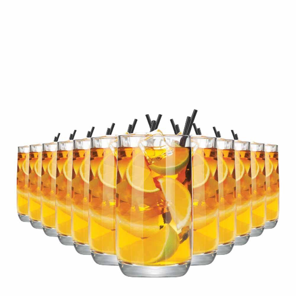 Jogo Copos Água Suco New York Long Drink Vidro 350ml 12 Pcs