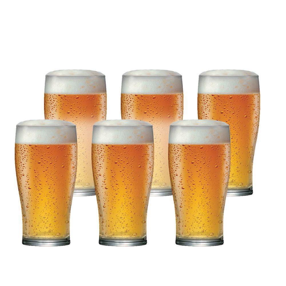 Jogo Copos Cerveja American Pint Vidro 500ml 6 Pcs