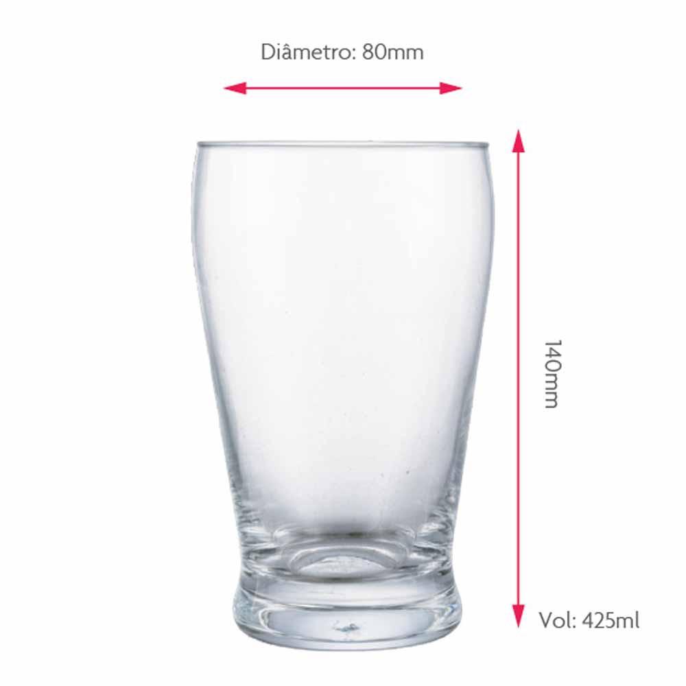 Copo de Cerveja de Cristal Atlantik 425ml 6 Pcs